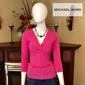 EUC - Michael Kors - pink blouse - size small!